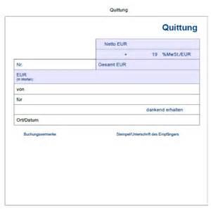Muster Quittung Privatverkauf Quittungsvorlage