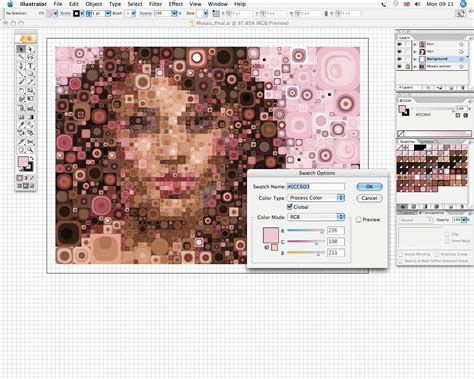 create mosaic pattern illustrator adobe illustrator photoshop tutorial design amazing