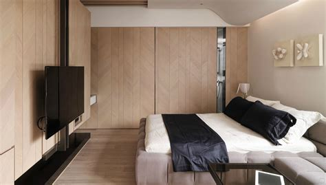 Room With Bed 6 Modern Upholstered Bed Room With Tv Olpos Design