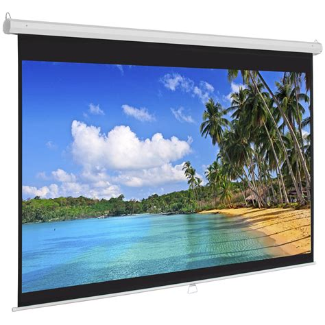 Proyektor Screen by 119 Quot Manual Projector Screen 84 Quot X84 Quot Pull Projection