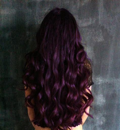 Dark Eggplant Hair Color | best shoo for purple highlights