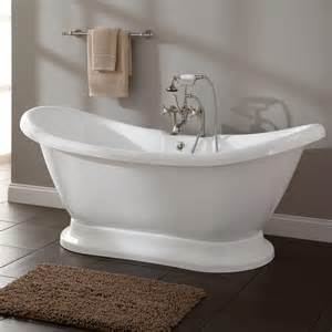 bathrooms with freestanding tubs liam acrylic pedestal tub bathtubs bathroom