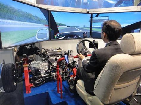 Gaming Setup Simulator by Saginomiya Driving Simulator Merges Actual Vehicle With