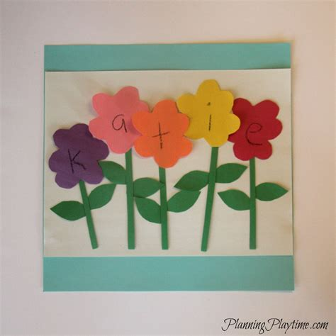 pattern crafts for kindergarten 5 adorable preschool name crafts flowers craft and spring