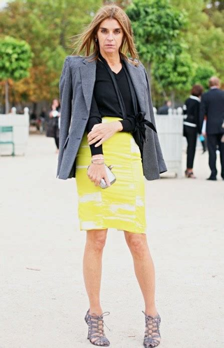 fashion on rock carine roitfeld and cool pencil skirt