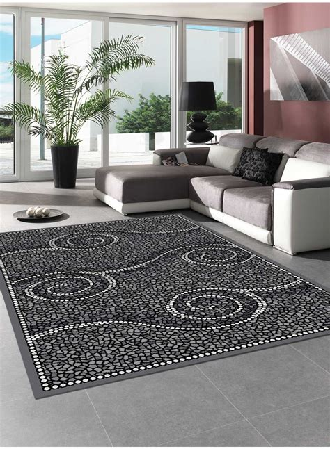 Tapis Dans Salon by Tapis Salon Detail Gris Tapis Gris