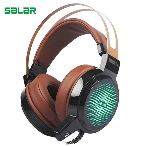 Headset Gaming Pc salar c13 wired gaming headset bass earphone