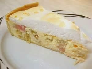 rabarber kuchen rhabarberkuchen mit baiser fettarm rezept mit bild