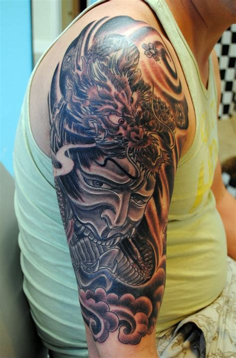 dragon half sleeve tattoo asian tattoos half sleeve japanese half sleeve 2