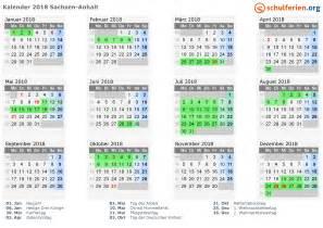 Kalender 2018 Mit Ferien Sachsen Kalender 2018 Ferien Sachsen Anhalt Feiertage