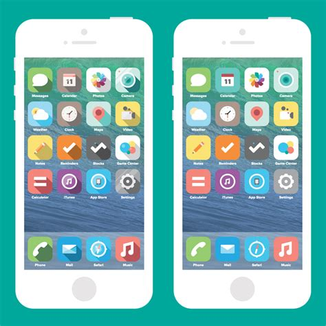 Design Icon Iphone | inspirational new iphone flat icons design