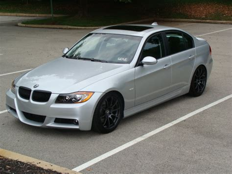 silver bmw black rims pic request 335i silver with black or chrome rims