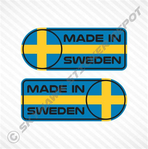 sweden car sticker set vinyl decal swedish flag sticker  volvo saab ebay