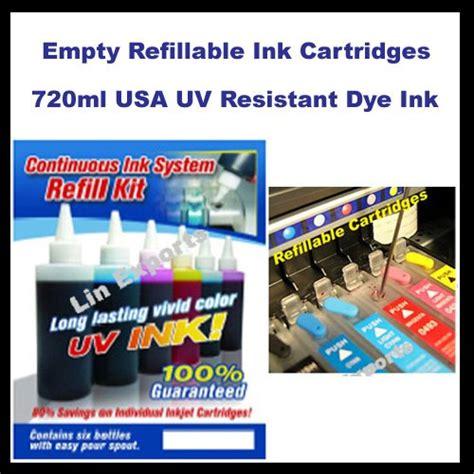 chip reset epson t50 r270 r290 rx590 1410 1430 tx700 tx730 uv ink refillable cartridges for epson r270 r290 r390