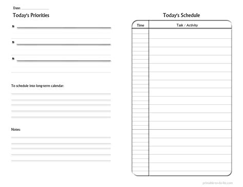 blank to do list template daily checklist template office manager daily checklist
