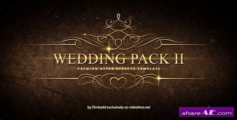 Wedding Pack Ii After Effects Project Videohive 187 Free After Effects Templates After After Effects Templates Free