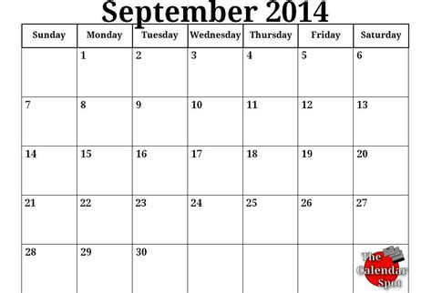 Google 2014 Calendar Template