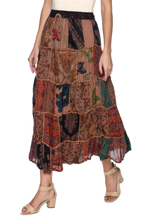 Patchwork Skirts - magic scarf patchwork skirt from vermont by country on the