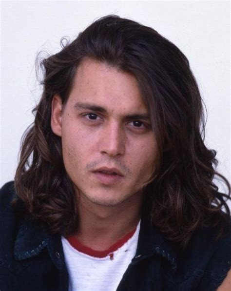 johny b hairstykes johnny depp hairstyle long 17 sexy man candy d pinterest