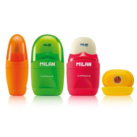 Milan Eraser Brush Capsule 49001 Pink milan capsule eraser sharpener back to school stationery