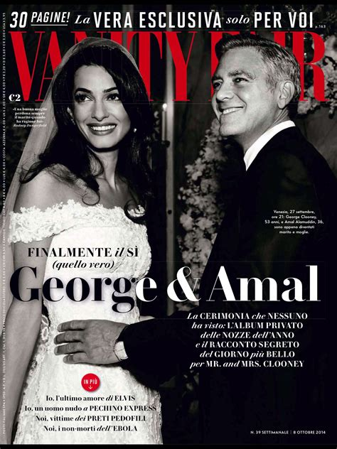 Vanity Fair Change Of Address by Amal Alamuddin And George Clooney In Vanity Fair Italy