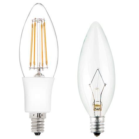 b10 led filament bulb 35 watt equivalent candelabra led