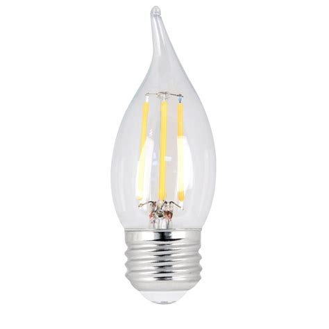 feit electric led light bulbs feit electric 40w equivalent daylight ca10 dimmable clear