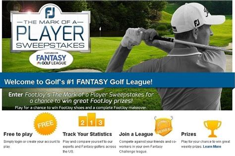 Golf Channel Sweepstakes - golf channel s fantasy league contest footjoy mark of a player sweepstakes