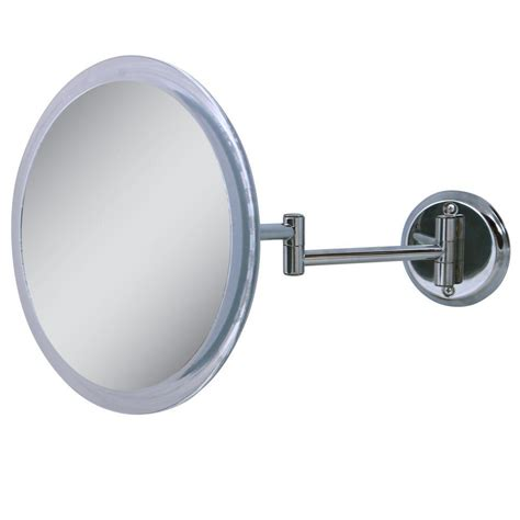 zadro 9 5 in x 15 5 in telescoping vanity mirror in zadro 10 in x 11 in 5x wall mirror in chrome z9w5 the