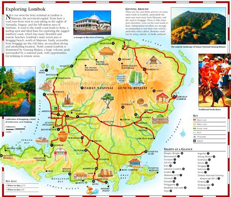 printable road map of bali lombok tourist map