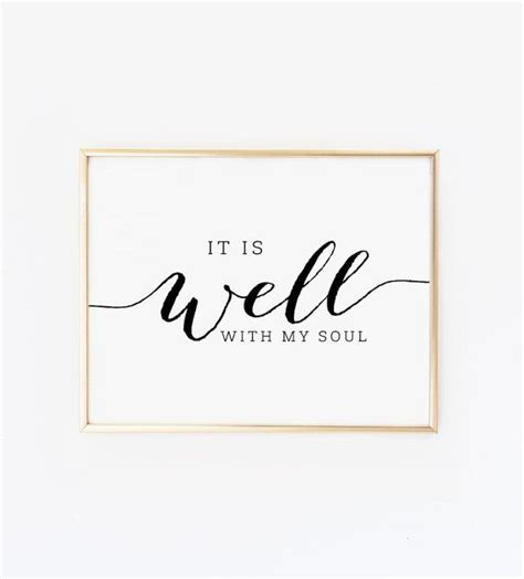 free christian printable wall art it is well with my soul printable wall art christian