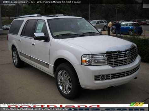 2010 lincoln navigator l 4x4 in white platinum metallic