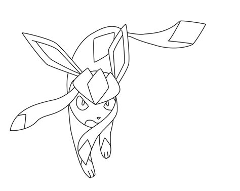 pokemon coloring pages glaceon pokemon coloring pages glaceon fun coloring pages