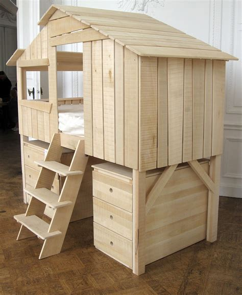 Small Bookcase White Kids Playhouse Beds From Mathy By Bols Loft Treehouse