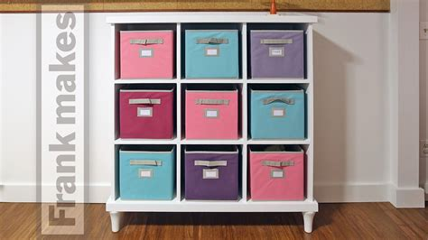 how to make cubby shelves a cubby shelf