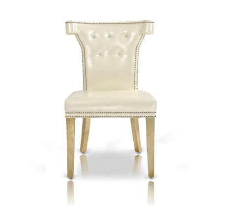 White Leather Dining Room Chair by Dreamfurniture Com Armani White Leather Dining Chair