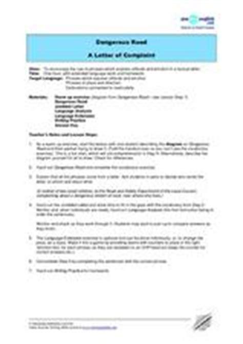 Complaint Letter Lesson Plan Writing A Complaint Letter Lesson Plans Worksheets