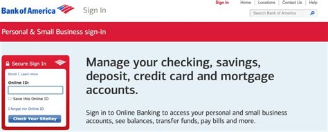 bank of america sign in bank of america login sign in to banking tmb