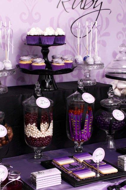 Purple amp black sophisticated tween birthday party ideas