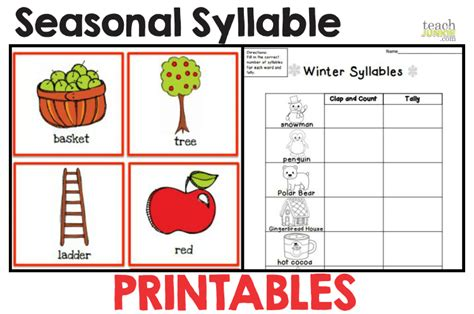 syllables 8 easy to print activities teach junkie