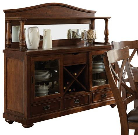 Dining Table And Hutch Steve Silver Wyndham Buffet With Hutch In Distressed