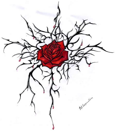 rose and thorn vine tattoos add a few more roses sharper thorns