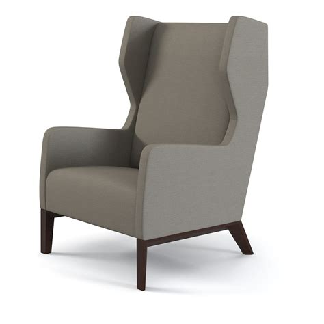 modern wingback contemporary wing chair 3d max holly hunt darder