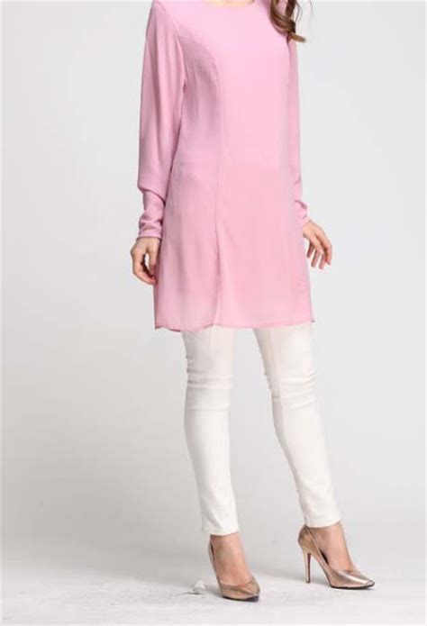 Baju Blouse Ch774447 Button Tunik Dusty norzi beautilicious house nbh0468 izyan blouse