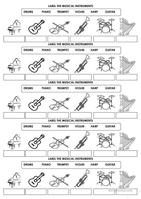 musical instruments crossword puzzle worksheet answers musical instrument worksheets letravideoclip