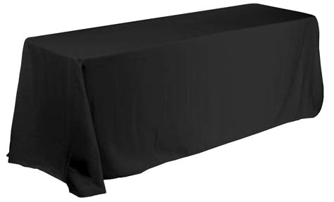 Black Table Covers by Black Corner Table Cover For 6ft Rectangular Tables