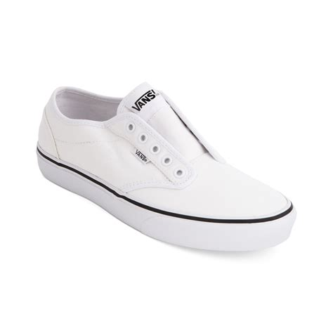 white sneakers for vans atwood laceless sneakers in white for lyst