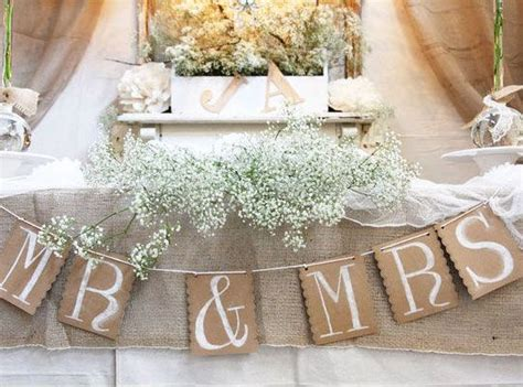 diy wedding table decoration ideas rustic head table