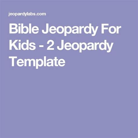 13 Best Bible Jeopardy Images On Pinterest Sunday School Bible Jeopardy Template