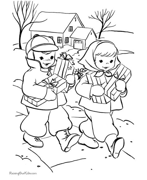 christmas scenes coloring pages az coloring pages